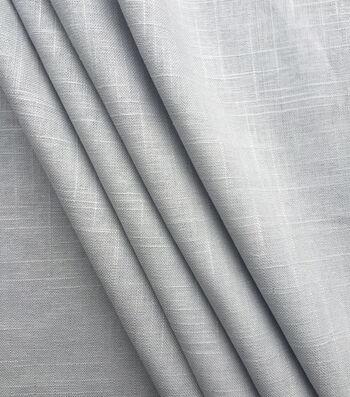 "Apparel Linen Fabric 52""-Gray Hopsack"