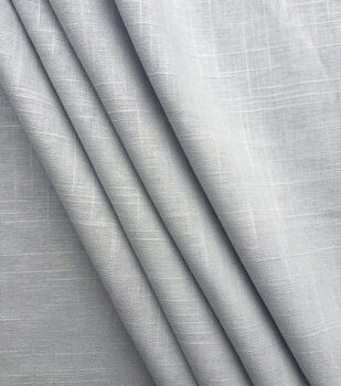Apparel Linen Fabric -Gray Hopsack