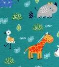 Nursery Flannel Fabric -Safari