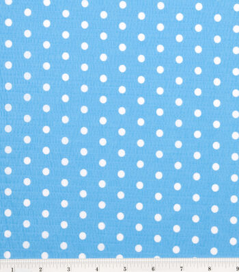 Tutti Fruitti Fabric -Polka Dot Turquoise and White