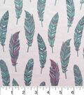 Doodles Juvenile Apparel Fabric-Feathers Interlock