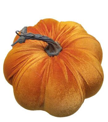 Simply Autumn Medium Velvet Pumpkin-Orange