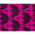Cascade Textured Toile Satin Ribbon 4\u0022x15 yds-Flocked Pattern on Begonia