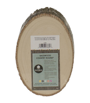 Walnut Hollow Basswood Country Round, Small