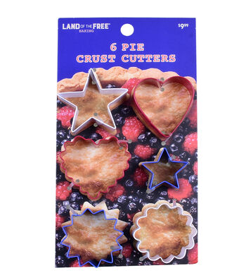 Land of the Free Baking Patriotic 6 pk Pie Crust Cutters