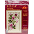 Pink Roses On Lattice Counted Cross Stitch Kit-13.75\u0022x21.75\u0022 16 Count
