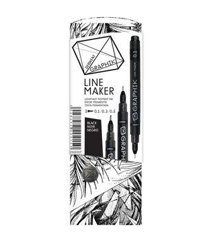 Derwent Graphik 3 Piece Line Painter Set-Black