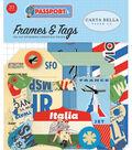 Passport Cardstock Die-Cuts 33/Pk-Frames & Tags