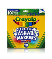 Crayola Classic Washable Bold Markers 10/Pkg, , hi-res