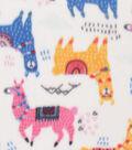 Blizzard Fleece Fabric 59\u0022-Bright Llamas