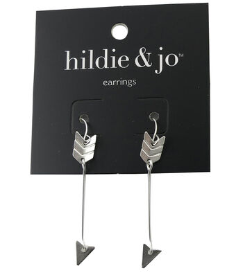 hildie & jo Arrow Silver Dangle Earrings