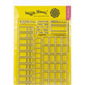 Waffle Flower Crafts Clear Stamp 5\u0022X7\u0022-Color Swatches