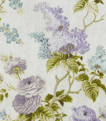 "Home Essentials Decor Fabric 45""-Emmas Garden Violet"