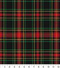 Christmas Cotton Fabric 44\u0022-Traditional Plaid with Glitter