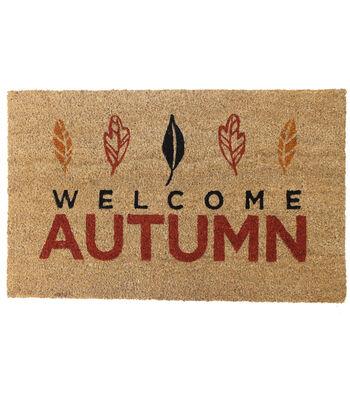 Simply Autumn Coir Mat-Welcome Autumn on Natural