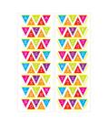 Brights Puffy Banner Alphabet Sticker