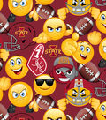 Iowa State University Cyclones Cotton Fabric -Emoji