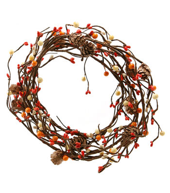 Blooming Autumn 66'' Berry & Pinecone Coiled Garland