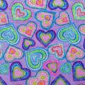 Anti-Pill Plush Fleece Fabric-Watercolor Hearts