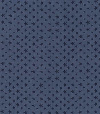 Patriotic Fabric -Stars on Blue