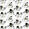Disney Mickey Mouse Cotton Fabric-Mickey Over the Years