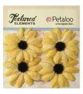 Petaloo Textured Elements Burlap Sunflowers 2\u0027\u0027
