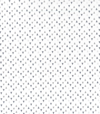 "Nursery Cotton Fabric 43""-Gray Triangles"