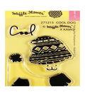 Waffle Flower Crafts Clear Stamps 2\u0022X3\u0022-Cool Dog