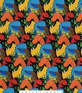 Snuggle Flannel Fabric 42\u0027\u0027-Dinos on Black