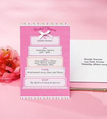 Wilton 12ct Bridal Shower Cake Invitation Kit