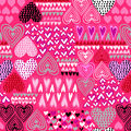 Super Snuggle Flannel Fabric-Sketched Hearts Pink