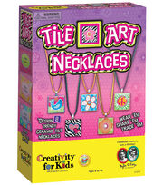 Creativity for Kids Tile Art Necklaces Jewelry Making Kit, , hi-res