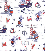Disney Mickey & Minnie Mouse Cotton Fabric -Nautical, Mickey & Ahoy!, , hi-res