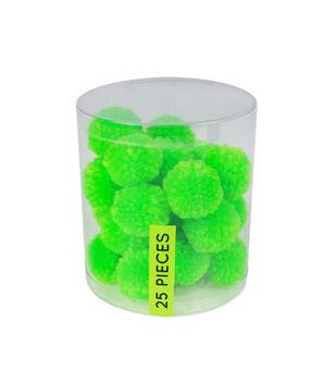 Fab Lab Yarn Pom Poms 25/Pkg-Green