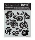 Stencil1 11\u0027\u0027x11\u0027\u0027 Repeat Wallpaper Stencil-Bouquet