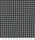 Homespun Cotton Fabric 44\u0022-Gray & Black Cross Square
