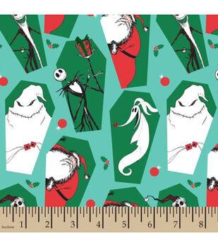 Nightmare Before Christmas Cotton Fabric-Christmas Coffins