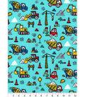 Snuggle Flannel Fabric 42\u0027\u0027-Road Work Vehicles