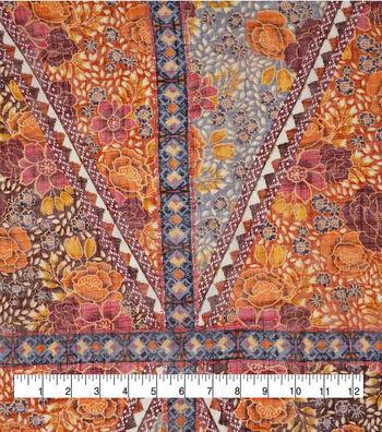 """Silky Gauze Fabric 56""""-Boho Autumn"""