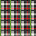 Christmas Cotton Fabric-Black, Red & Green Plaid