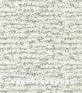 ED Ellen Degeneres Upholstery Fabric 54\u0027\u0027-Shale Love Script