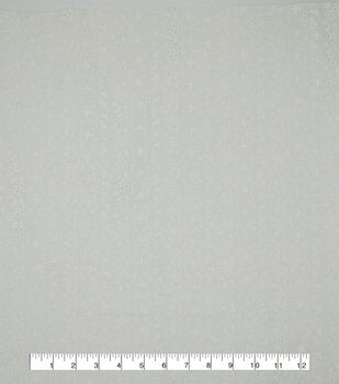 Specialty Cotton Simple Eyelet Fabric-White