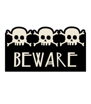 Maker's Halloween Coir Mat-Beware