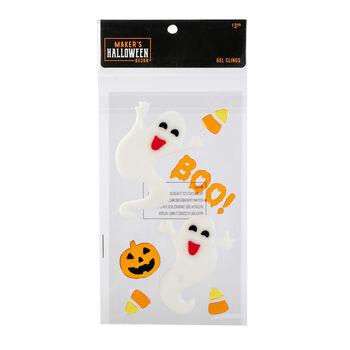 Maker's Halloween Decor Gel Clings-Ghosts, Boo & Candy Corns
