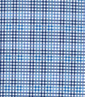 Snuggle Flannel Fabric -Blue Gingham Plaid