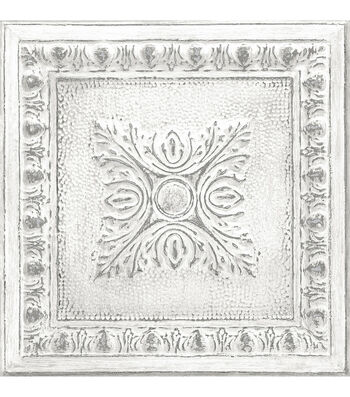 WallPops NuWallpaper Peel & Stick Wallpaper-Reclaimed Tin