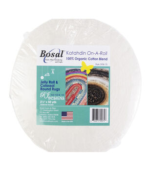 Bosal Katahdin On-A-Roll 100% Organic Cotton Batting Roll 2.5''x50 yds