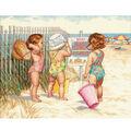 Dimensions 14\u0022x11\u0022 Counted Cross Stitch-Beach Babies