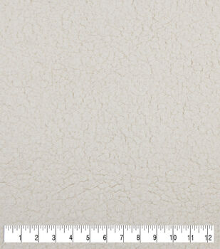 Luxury Faux Fur Sherpa Fabric -Ivory