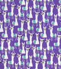 Snuggle Flannel Fabric-Llamas with Glasses